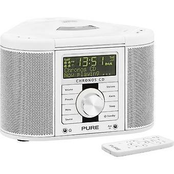 Pure Chronos CD Serie II Radio alarme relógio DAB+, FM AUX, CD White