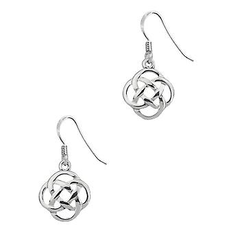 Celtic Eternity Knotwork Pair Of Earrings Fiona Drop Style
