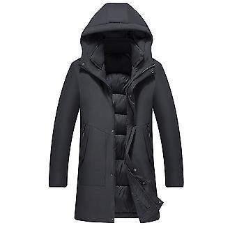 Allthemen Men's Solid Multi-Pocket Thick Warm Zipper Padded Jacket