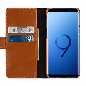 Case For Samsung Galaxy S9 True Leather Cognac Card Holder