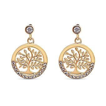 Ah! Jewellery Tree of Life Crystal from Swarovski Earrings