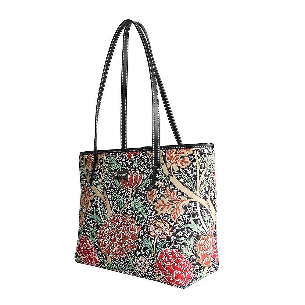William morris - the cray shoulder tote bag by signare tapestry / coll-cray