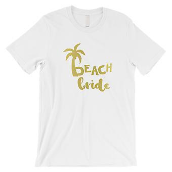 Strand Braut Palme-GOLD Herren weiß T-Shirt nachdenklich Spaß Sommer