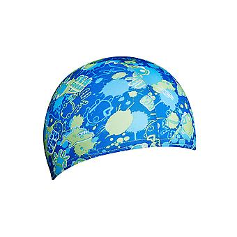 Speedo Sea Squad Junior Polyester Swim Cap - Blue