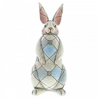 Jim Shore Heartwood Creek Grey Rabbit Garden Statue