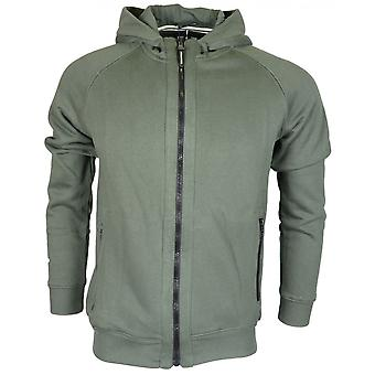 Weekend Offender Ross Zip Up Hooded Khaki Hoodie