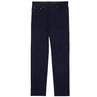 Ted Baker Coffs Brushed Cotton Trousers Navy Blue