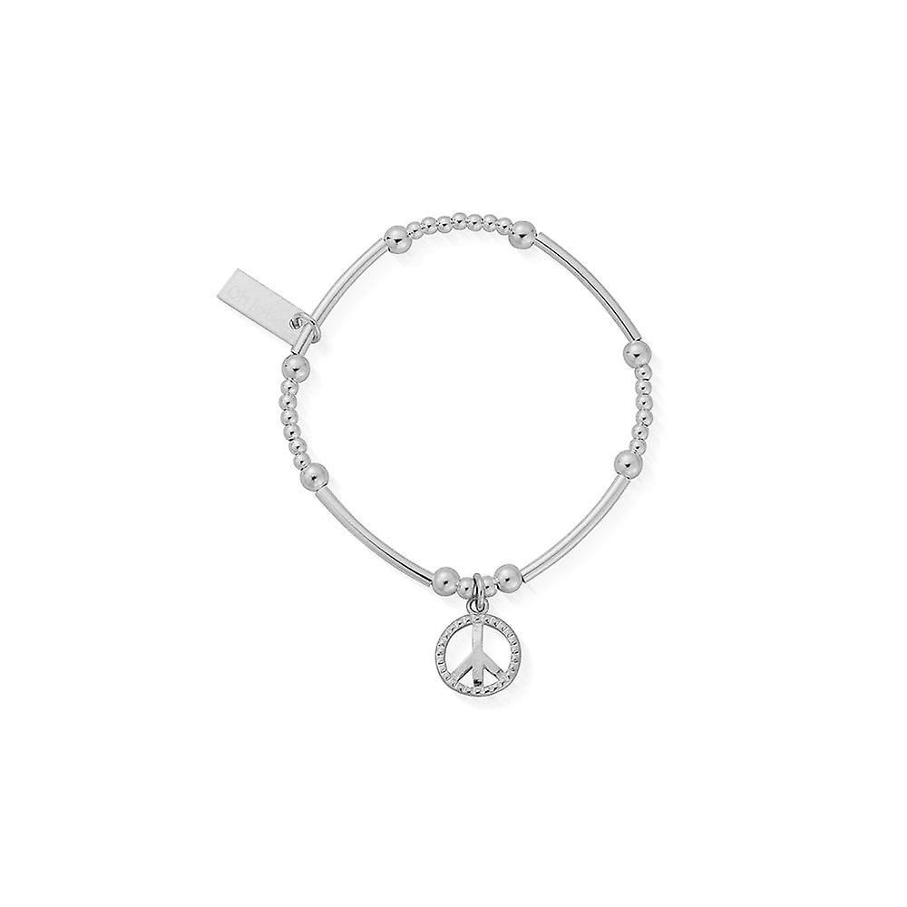 ChloBo Children's Silver Cute Mini Stud Peace Bracelet