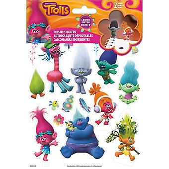 Sticker Pop-Up - Trolls 3D New Toys Games st5133