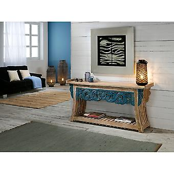 Schuller Tanah Reclaimed Wood White and Blue Console Table, 160cm