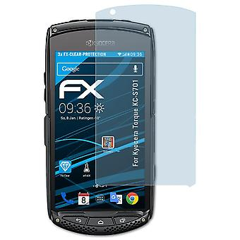 atFoliX Glass Protector compatible with Kyocera Torque KC-S701 Glass Protective Film 9H Hybrid-Glass