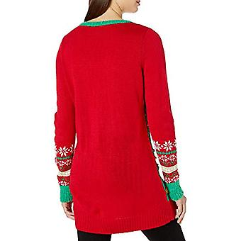 Blizzard Bay Women's Ugly Christmas Reindeer Sweater, red Tree, Medium