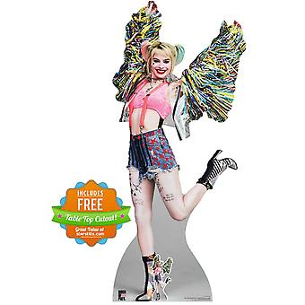 Harley Quinn Happy Butterfly Official Birds of Prey Lifesize Cardboard Cutout