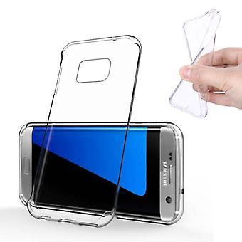 Stoff zertifiziert® Samsung Galaxy S7 Edge Transparent klar Silikon Fall Abdeckung TPU Fall