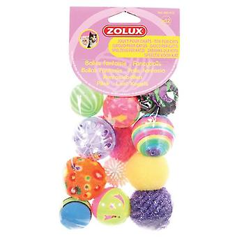 Zolux Set of 12 Fancy Balls (Cats , Toys , Balls)
