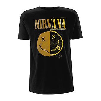 Nirvana Kurt Cobain Splejset Logo Officielle Tee T-Shirt Unisex