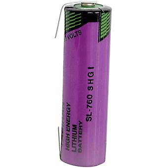 Tadiran Batteries SL-760/T, AA Size 2200mAh Lithium Battery Cell 3.6V, Tagged, S