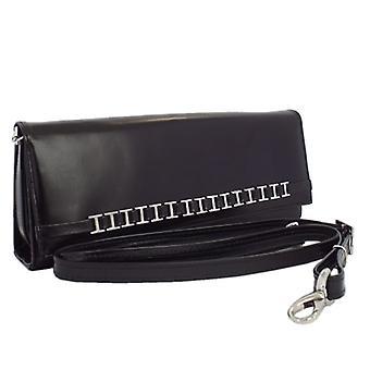 Peter Kaiser Mimi Женская нарядная сумка-клатч на плечо из черной кожи
