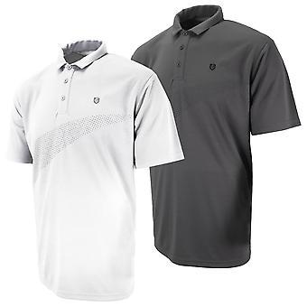 Island Green Mens 2020 IGTS1939 Spot Design Wicking Golf Polo Shirt