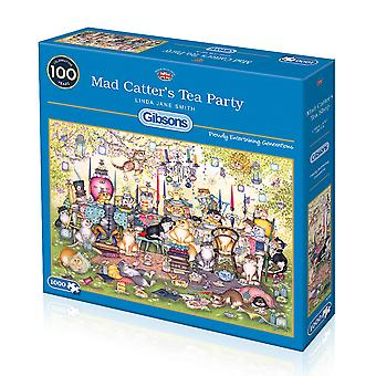 Gibsons Mad Catter's Tea Party Jigsaw Puzzle (1000 Pieces)