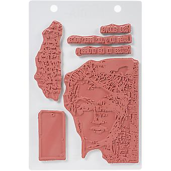 Dina Wakley Media Cling Stamps 6-quot;X9-quot; - Refuse To Be Ordinary