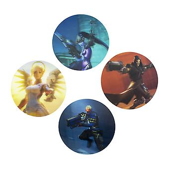 Overwatch 3D Coaster Drinks Coasters Place Mats Set Non Slip Circle Gaming Retro
