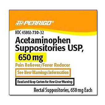 Perrigo acetaminophen suppositories usp, 650 mg, 50 ea