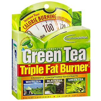 Applied nutrition green tea triple fat burner, liquid soft-gels, 30 ea