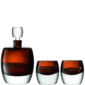 LSA International Whisky Club Whisky Set-Decanter & tumblers