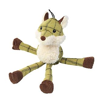 House Of Paws Plush Tweed Fox Long Legs Dog Toy