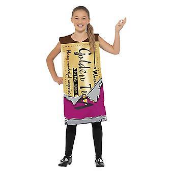 Childrens Roald Dahl vinnende Wonka Bar Fancy kjole kostyme