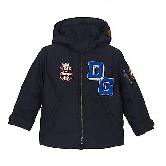Dolce & Gabbana Long Solid-Coloured Down Jacket