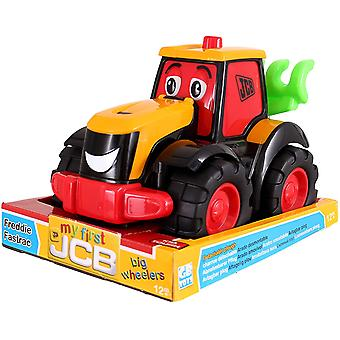 My First JCB Big Wheeler Freddie Fastrac Tractor Toy Red Play Construction Toy