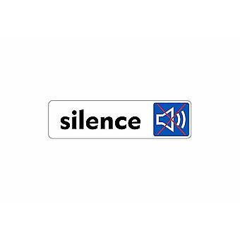 Stick stick sticker adhesive signage plaque door panel silence