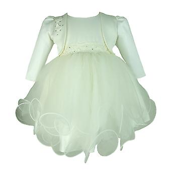Frazer & James Ivory Sparkle Christening Wedding Dress mit Elfenbein Butterfly Bolero Jacket