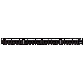 24-Port Cat6 Patch Panel 110 Type (568A/B Compatible) von Monoprice
