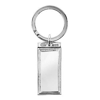 Orton West Stepped Key Ring - Silver