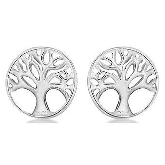 KJ Beckett elämän puu korvakorut - Silver