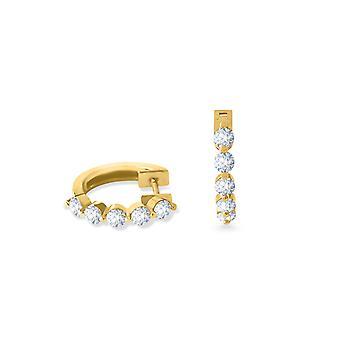 Korvakorut Vanteet täydet timantit ja 18K kultaa