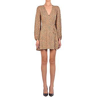 Ganni F4212185 Women's Beige Cotton Dress