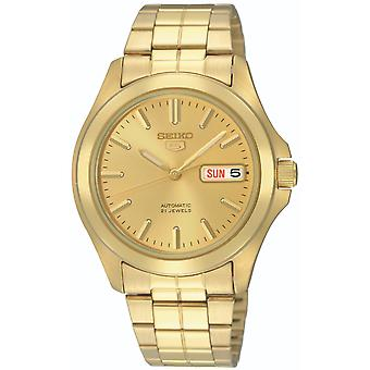 Seiko 5 Automatisk Full Gold PVD rustfrit stål Mænd's Watch SNKK98K1