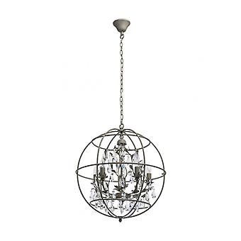Gray Ceiling Light Loft 5 Bulbs 144 Cm