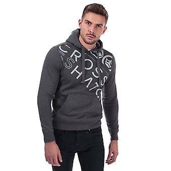 Men's Crosshatch Black Label Lapout Logo Hoody in Grey