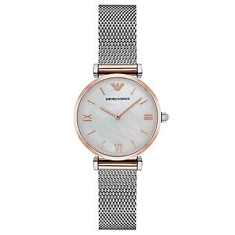 Emporio Armani AR2067 Classic Two Tone Stainless Steel Ladies Watch