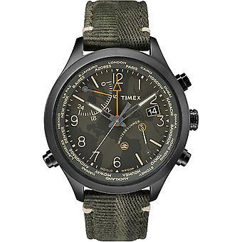 Timex Waterbury watch TW2R43200D7 - Stoff Gents Kvarts Chronograph