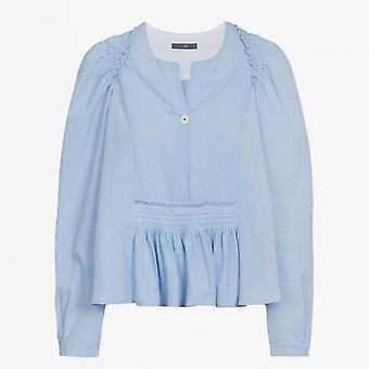 HIGH  - Amicable - Flared Check Top - Blue