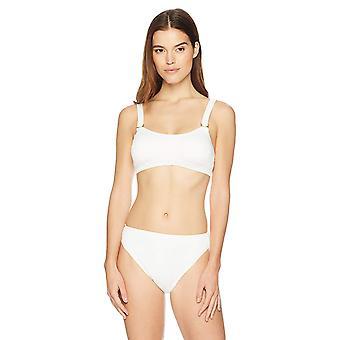 Marke - Mae Women's Swimwear gerippt D-Ring Bikini Top (für A-C Tassen),C...