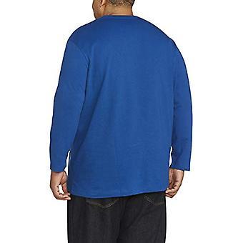 Essentials Men's Big & Tall Long-Sleeve T-Shirt, Bright Blue, 3X