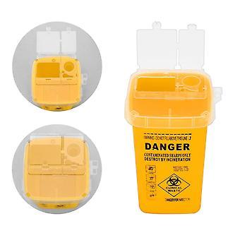 Contenedor de suministros de tatuajes para puntas de aguja médicas de objetos punzantes desechables - caja de residuos