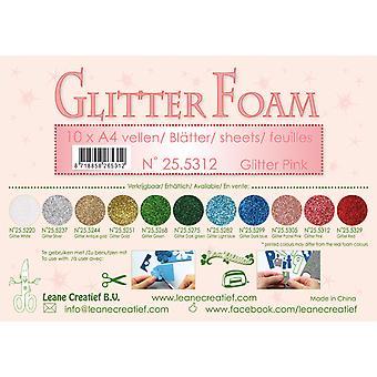 Leane Creatief Glitter Vaahto Sheets A4 Glitter Vaaleanpunainen